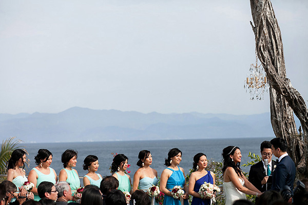 fun destination wedding at Casa China Blanca in Puerto Vallerta, Mexico - photo by Elizabeth Lloyd and Dave Getzschman | via junebugweddings.com