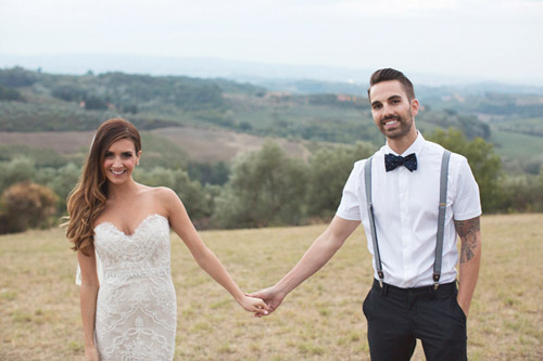 Romantic Destination Wedding in Tuscany, Italy