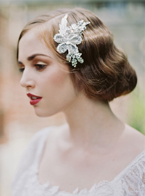 1920 S Inspired Bridal Hair Accessories From Enchanted Atelier Via Junebugweddings
