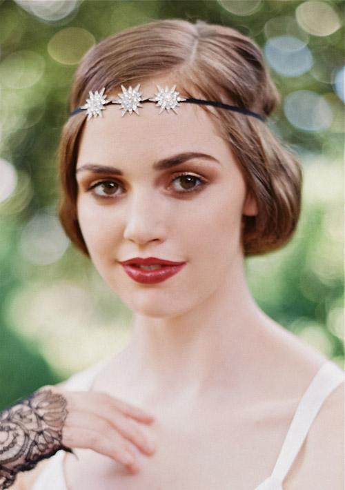 1920 S Inspired Bridal Hair Accessories From Enchanted Atelier Via Junebugweddings