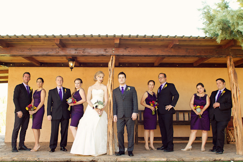 Bright wedding at The Gage Hotel in Marathon, Texas - photos by Spink Studio | junebugweddings.com