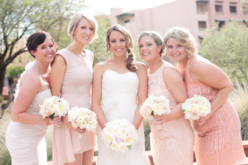 Navy, Champagne, Cream And Blush Arizona Wedding With Pink