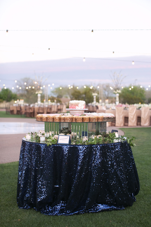navy sequin tablecloth rental