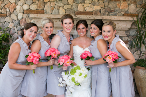 Coral And Grey Paradise Valley Arizona Wedding Junebug