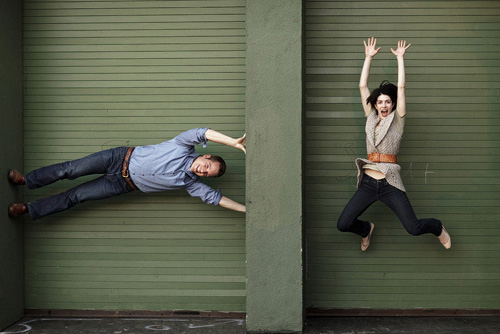 hilarious engagement photo by Steven Young of STAK Photography | junebugweddings.com