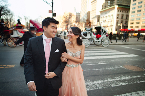 NYC engagement session featuring couture gowns, photos by Jason Groupp Photography | junebugweddings.com