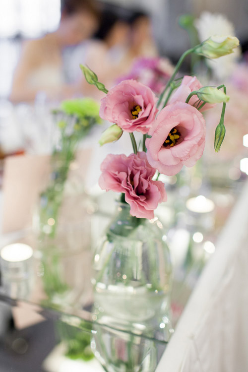 classic light pink Sydney, Australia wedding at The Terrace on Cockle Bay Wharf - photo by Hilary Cam Photography | via junebugweddings.com