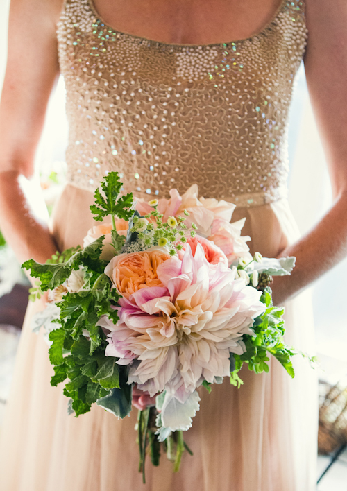 whimsical garden wedding bouquet by Floracopia - photo by Joy Marie Studios | junebugweddings.com