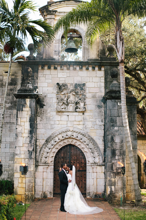 Outdoor Miami Wedding - Ancient Spanish Monastery | Junebug Weddings