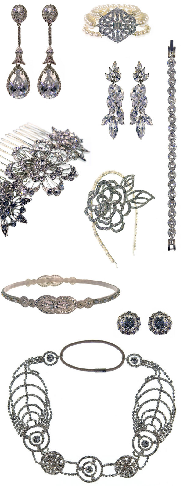 Millany Bridal Jewelry and Accessories | via junebugweddings.com