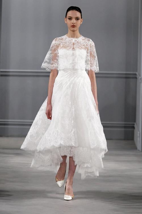 Wedding dresses by monique lhuillier spring 2014 for Short spring wedding dresses