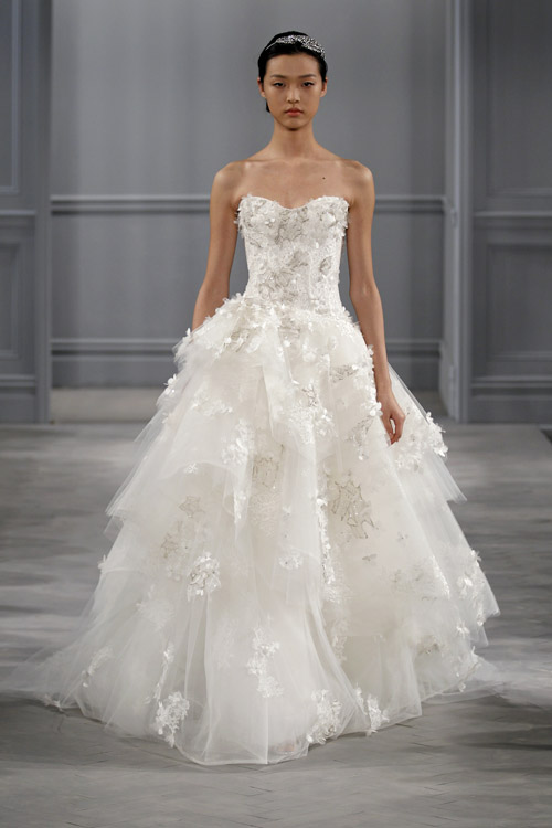 Wedding dresses by monique lhuillier spring 2014 for Monique lhuillier wedding dress