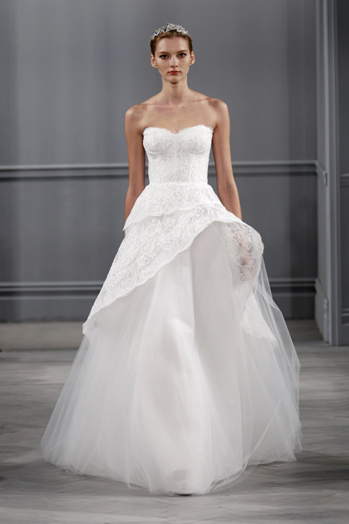 Wedding Dresses By Monique Lhuillier Spring 2014 Junebug Weddings