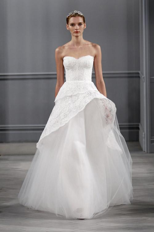 Wedding Dresses By Monique Lhuillier Spring 2014 Junebug Weddings