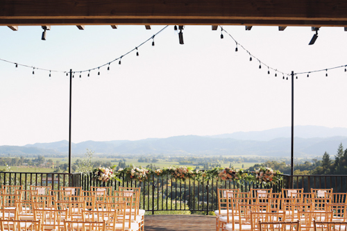 Elegant, rustic wedding at Auberge du Soleil, Napa. Floral design by Nancy Liu Chin, photos by Michele Waite | junebugweddings.com