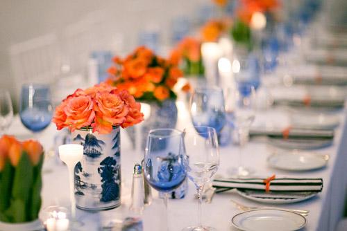 Wedding Decorations Blue And Orange : Navy blue and orange nautical connecticut wedding junebug weddings