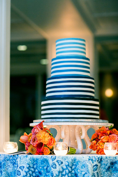 Navy Blue And Orange Nautical Connecticut Wedding Junebug