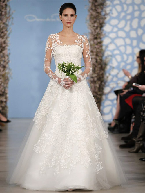 Wedding dresses by oscar de la renta spring 2014 junebug weddings wedding dress by oscar de la renta from his spring 2014 bridal collection via junebugweddings junglespirit