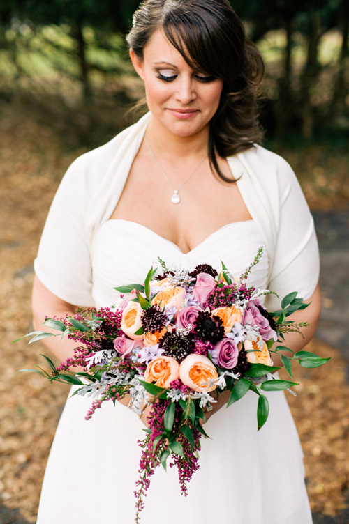 Vintage Purple And Jewel Tone Wedding At The Horticulture Center Fairmount Park Philadelphia