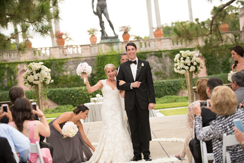 classic vintage pink and gray wedding at The Ritz-Carlton, Sarasota, FL - by Lisa Stoner and Abby Liga Photography | via junebugweddings.com