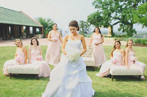 soft pink and nude wedding color palette texas wedding photos by christina carroll photography via