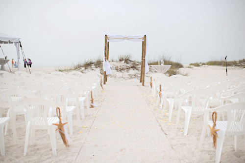 Pink White And Pearl Florida Beach Wedding