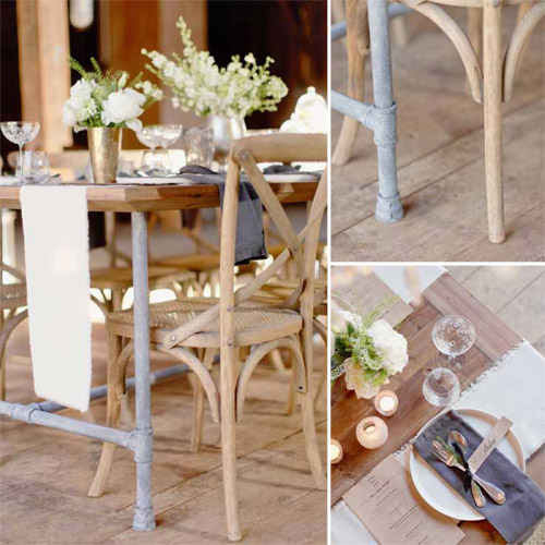 Vintage wedding furniture rentals by revolve junebug for Furniture rental seattle