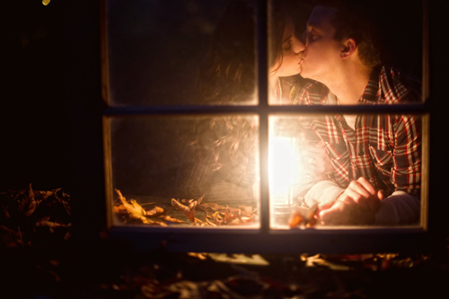 romantic and intimate engagement photo by Erica Bader of Erica Ann Photography | junebugweddings.com