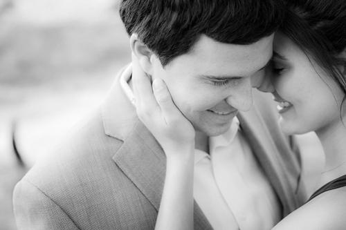 romantic and intimate engagement photo by Jennifer Lindberg of Jennifer Lindberg Weddings | junebugweddings.com
