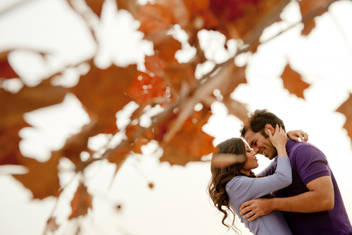 romantic and intimate engagement photo by Morgan Lynn Razi of Morgan Lynn Photography | junebugweddings.com