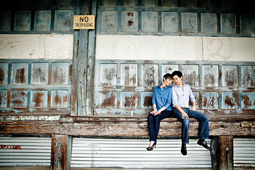 romantic and intimate engagement photo by Steve Lee of Steve Lee Photography | junebugweddings.com