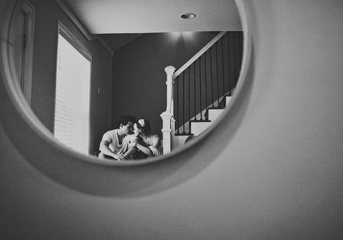 romantic and intimate engagement photo by Ariel Renae of Ariel Renae Photography | junebugweddings.com