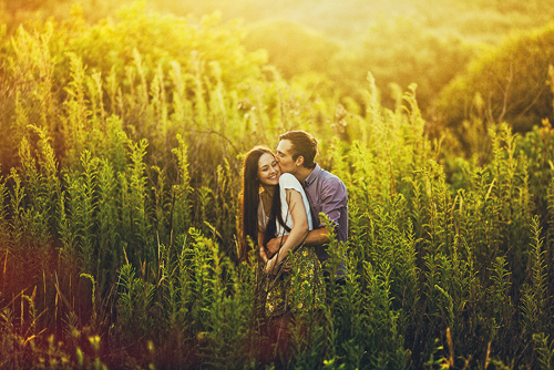 romantic and intimate engagement photo by Ben Adams of Ben Adams Photography | junebugweddings.com