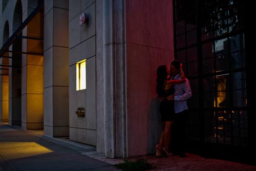 romantic and intimate engagement photo by John & Joseph Photography Inc. | junebugweddings.com