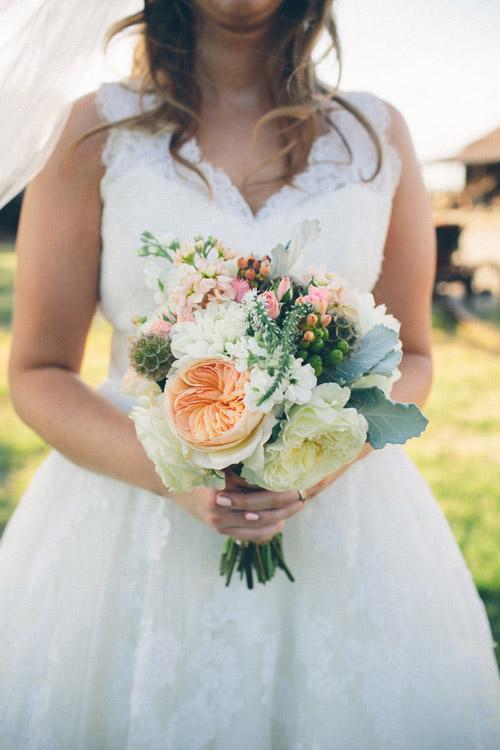 rustic cream and burlap California ranch wedding - photo by Kate Miller Photography | via junebugweddings.com