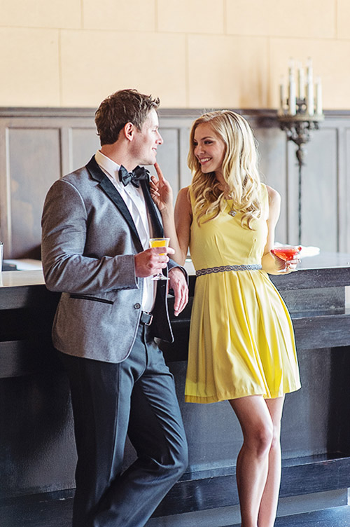 LA cocktail bar engagement photo shoot inspiration - photo by Melinda Jankowski | via junebugweddings.com