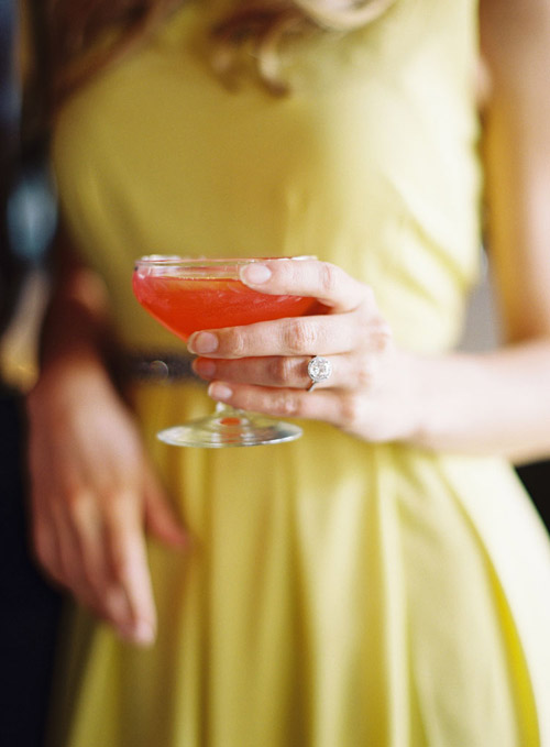 LA cocktail bar engagement photo shoot inspiration - photo by Caroline Tran | via junebugweddings.com
