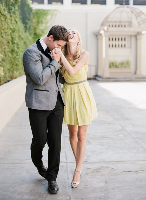 LA cocktail bar engagement photo shoot inspiration - photo by Hanbee Photography | via junebugweddings.com