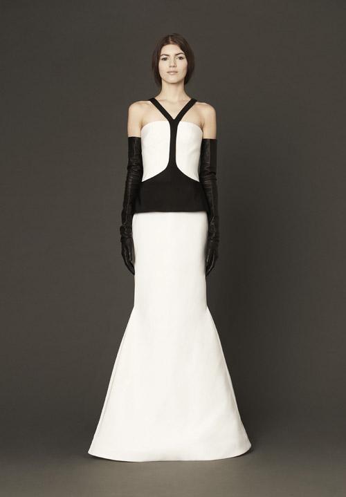 Black And White Wedding Dress By Vera Spring 2017 Bridal Collection Via Junebugweddings
