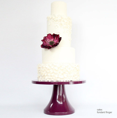 wedding cake stands in modern colors by Sarah's Stands | junebugweddings.com