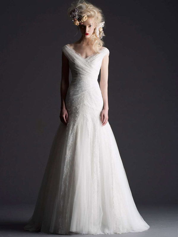 wedding dress from Cymbeline Paris- 2014 bridal collection | via junebugweddings.com