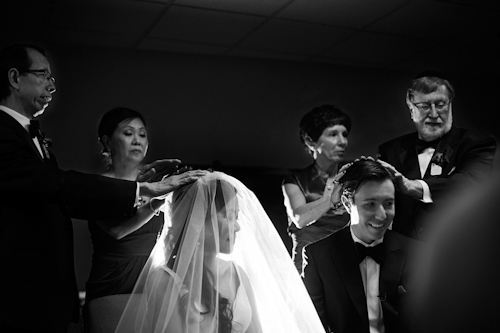 wedding with Chinese and Jewish traditions and circus trapeze artists, photographed by Cadence and Eli Photography | junebugweddings.com