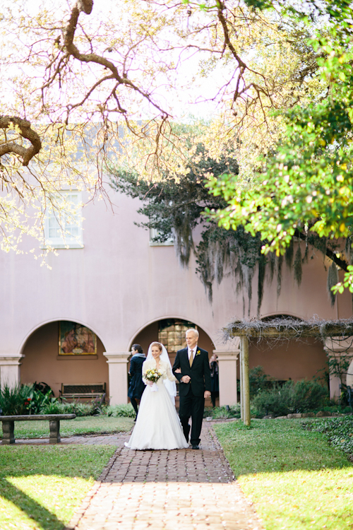 yellow and gray wedding in St. Augustine, Florida, photos by Brooke Images | junebugweddings.com