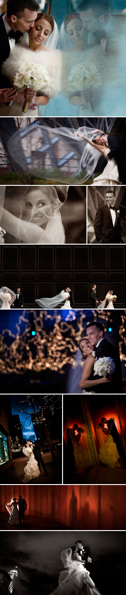 J Garner Photography, ivory, black and gold classic winter wedding, downtown Seattle