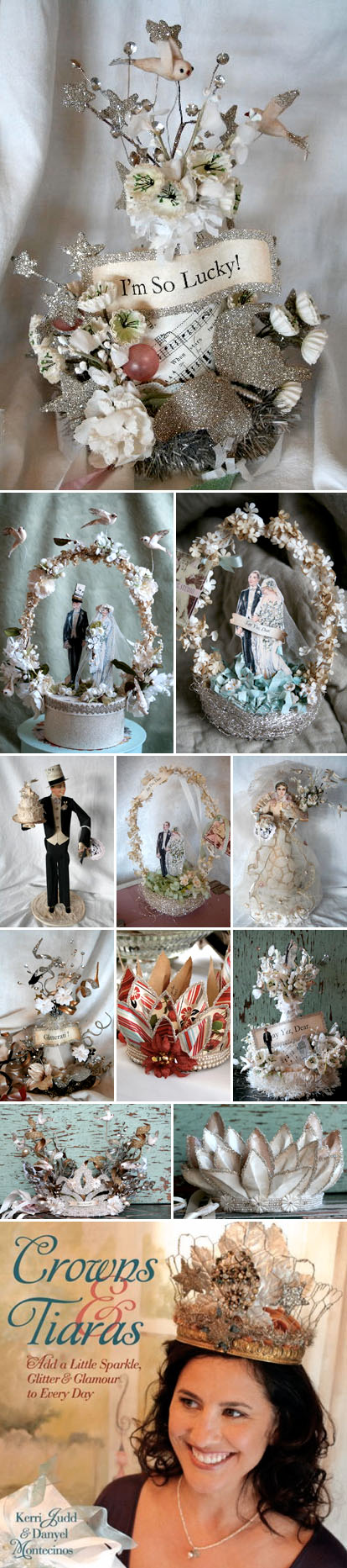 wedding cake toppers and bridal shower tiaras by Ashley Carter
