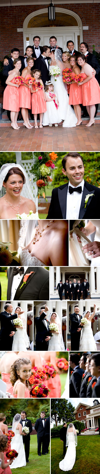 La Vie Photography, summer wedding with an orange, pink and green wedding color palette