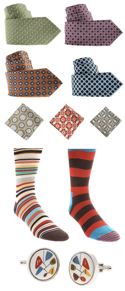 colorful men's wear wedding accessories from Barneys.com