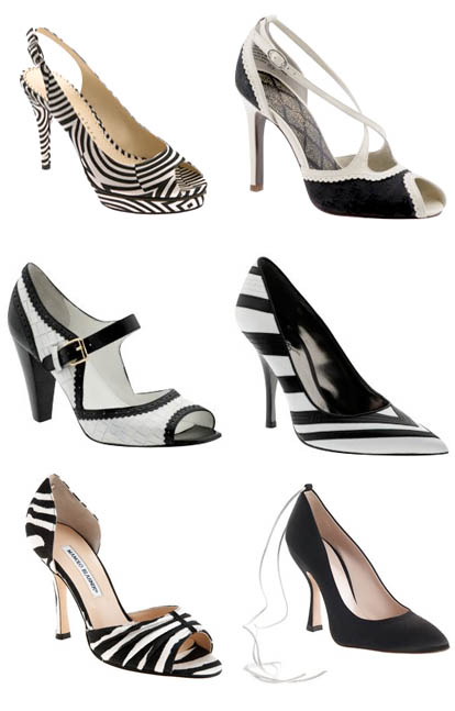 Beautiful black and white wedding shoes junebug weddings for Black and white shows