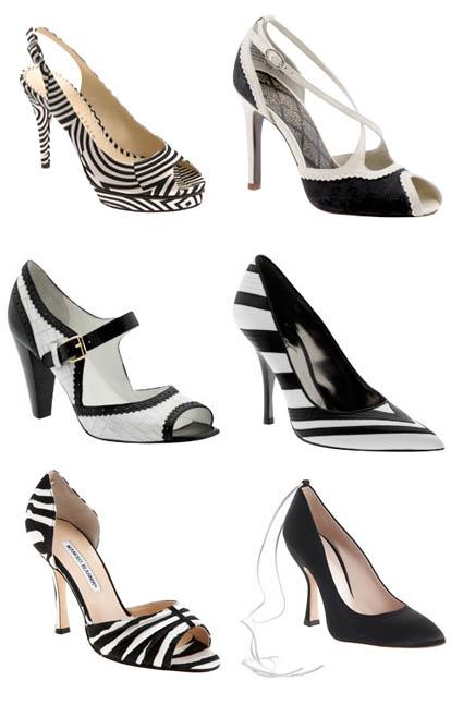 Beautiful Black and White Wedding Shoes | Junebug Weddings
