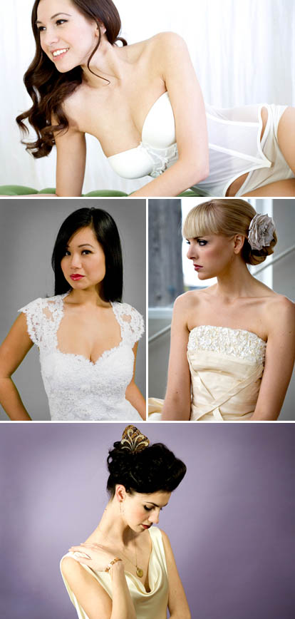 wedding dresses and bridal lingerie